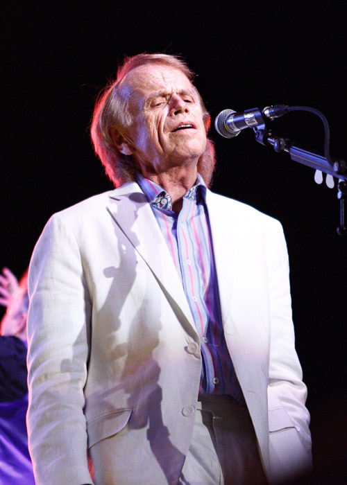 Description of . Al Jardine sings with Brian Wilson and Jeff Beck at the Fox Theatre in Detroit on Friday, Oct. 25, 2013. Photo by Ken Settle