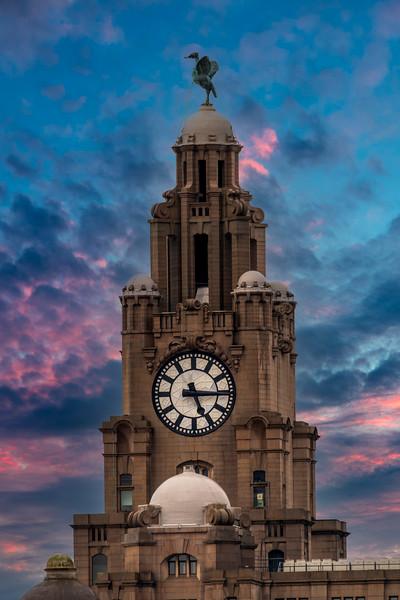 Royal Liver Building, Liverpool at Sunrise