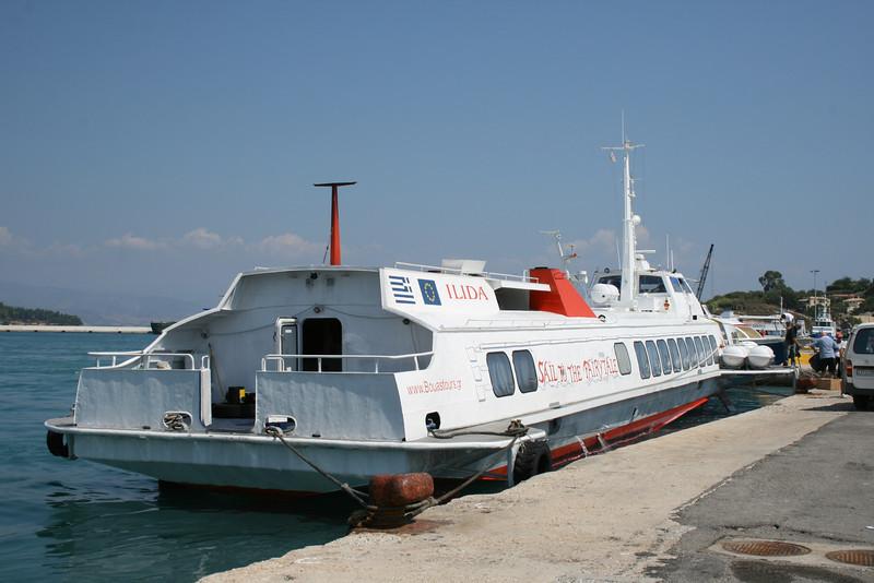 2009 - Hydrofoil ILIDA in Corfu.