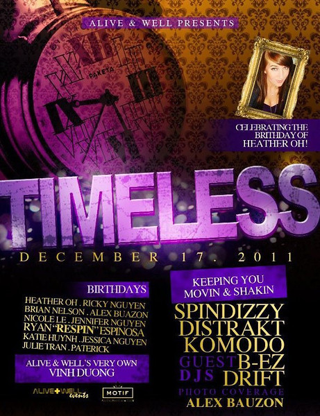 12/17 [Timeless@Motif]