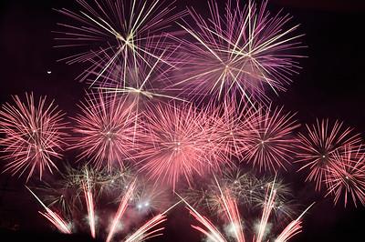 Fireworks at Lake Ashi