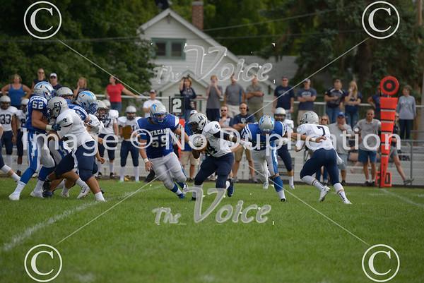 Oswego East High School Football vs Woodstock High School in Woodstock, Ill 8-31-13