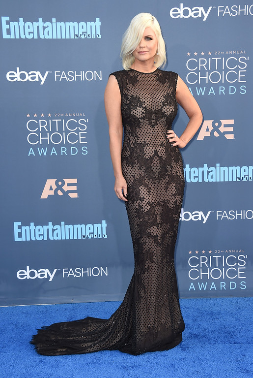. Carrie Keagan arrives at the 22nd annual Critics\' Choice Awards at the Barker Hangar on Sunday, Dec. 11, 2016, in Santa Monica, Calif. (Photo by Jordan Strauss/Invision/AP)