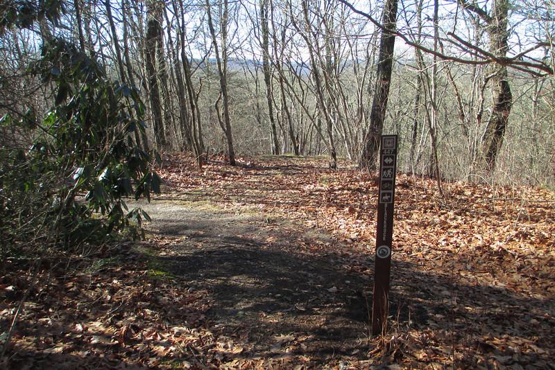 Blackrock-Overlook Trail Junction