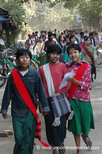 Burmese School Kids - Bagan, Burma