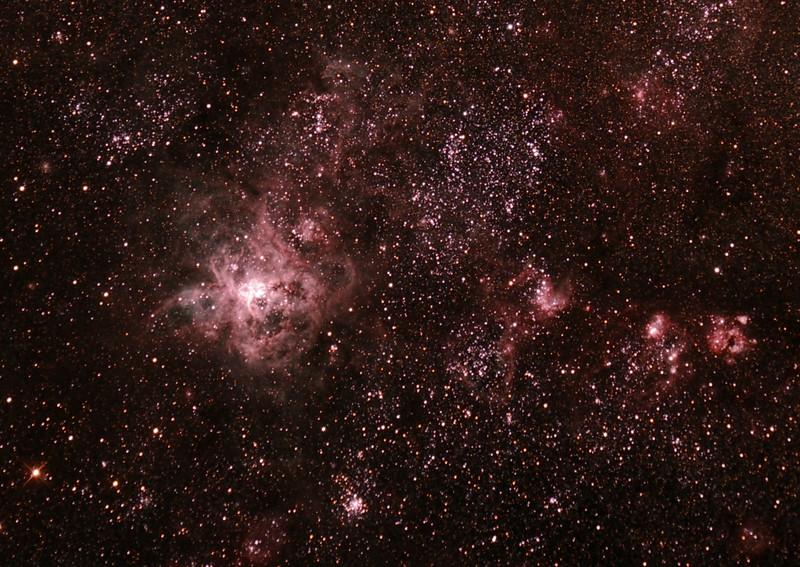Caldwell 103 - 30 Doradus - Tarantula Nebula in Doradus - 23/8/2013 (Processed cropped stack)