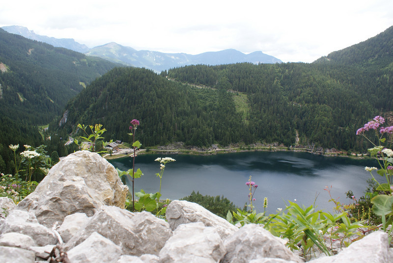 Gosausee.  We started the hike on the left side of the lake.