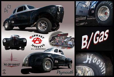 1940 Plymouth Gasser Black Silver George Sander