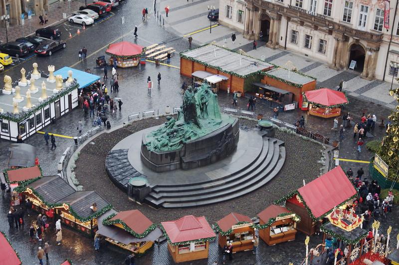 Prague - John Huss statue in city square