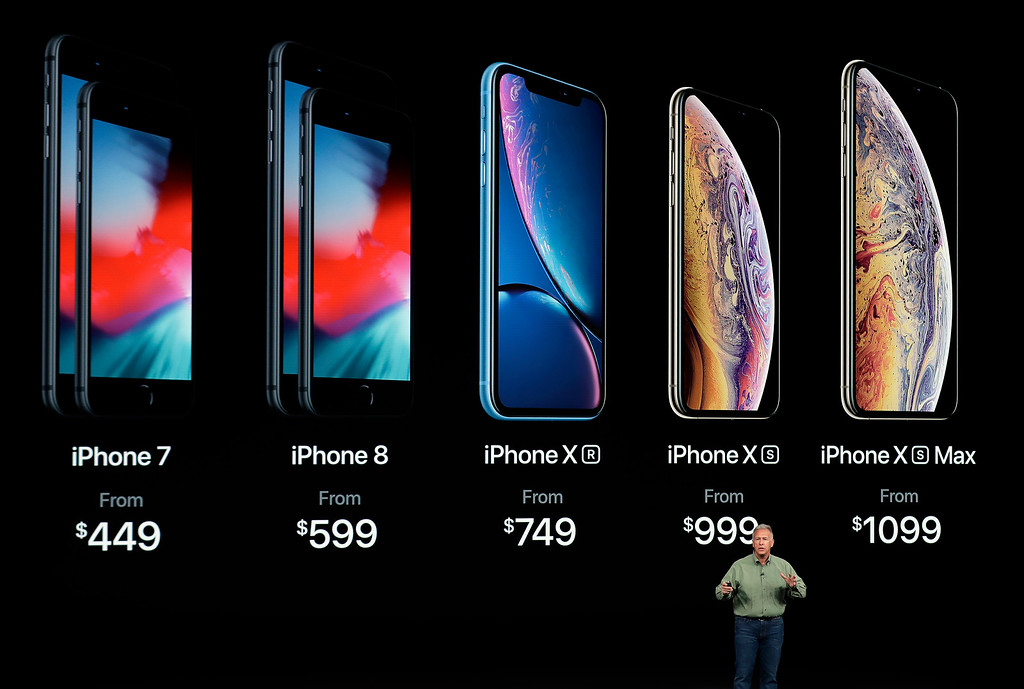 . Phil Schiller, Apple\'s senior vice president of worldwide marketing, speaks about the new Apple iPhone XS, iPhone XS Max and the iPhone XR at the Steve Jobs Theater during an event to announce new Apple products Wednesday, Sept. 12, 2018, in Cupertino, Calif. (AP Photo/Marcio Jose Sanchez)