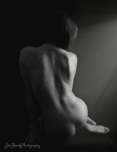 Nude Bodyscape in Window Light  - JohnBrody.com / John Brody Photography
