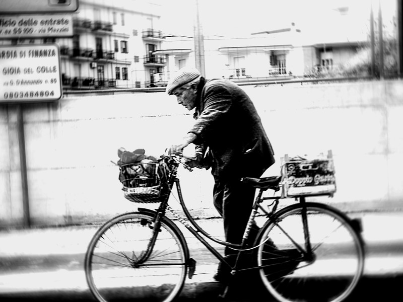 Old man and his bike
