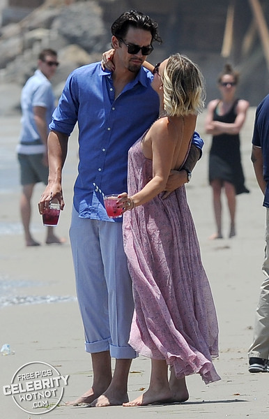 Kaley Cuoco Swept Off Her Feet Kissing Then Husband Ryan Sweeting In Malibu