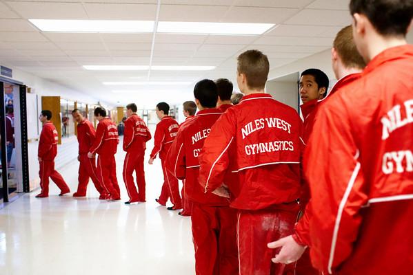 2008.03.29 - Boys' Gymnastics - Niles West @ 2nd Annual John Burkel Invite