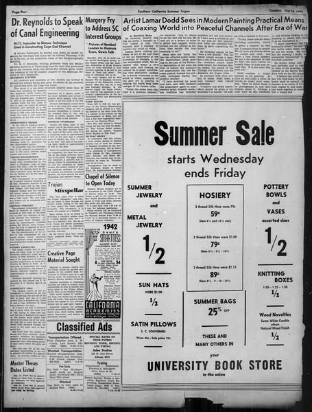 Summer Trojan, Vol. 33, No. 7, July 14, 1942