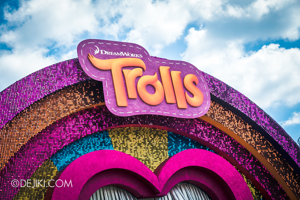 Universal Studios Singapore Park Update March 2018 TrollsTopia event - Trolls stage sign