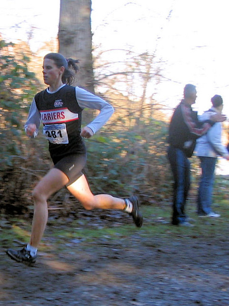 2005 Canadian XC Championships - Meghan in the mud
