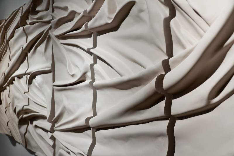 Drapery Sculptures | Glass and Ceramic