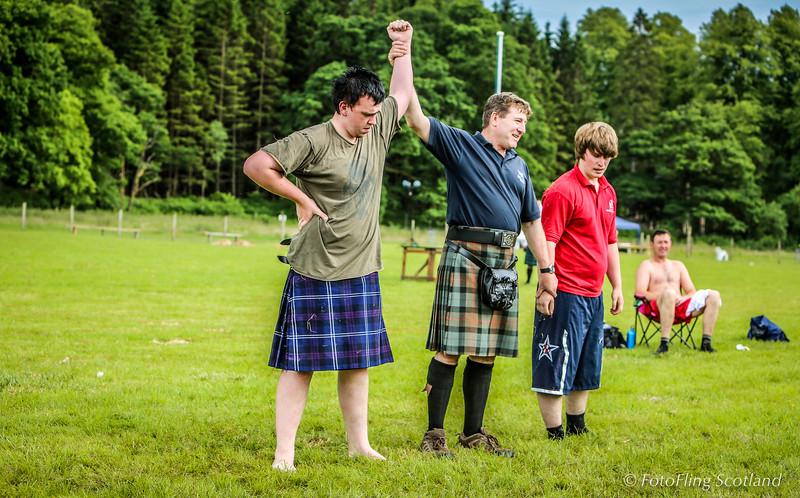 Scottish Backhold Wrestling at Luss Highland Games 2013