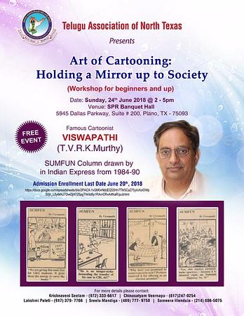 TANTEX Cartoon Workshop - TVRK Murthy (Viswapathi) - June 24th, 2018