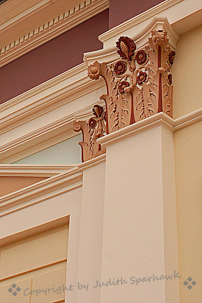 Second Floor Balcony Columns ~ There's something beautiful everywhere you look at the Getty Villa.