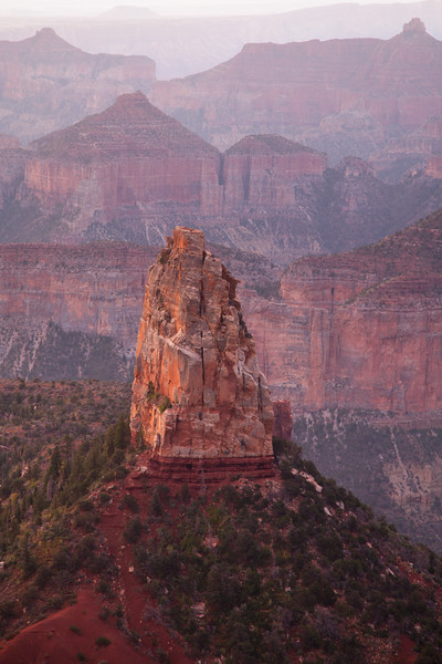 Point Imperial, North Rim, Grand Canyon National Park at sunrise