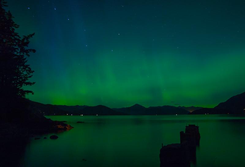 Aurora Borealis over Howe Sound, BC