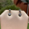 .69ctw Vintage Diamond Double Drop Earrings, French 2