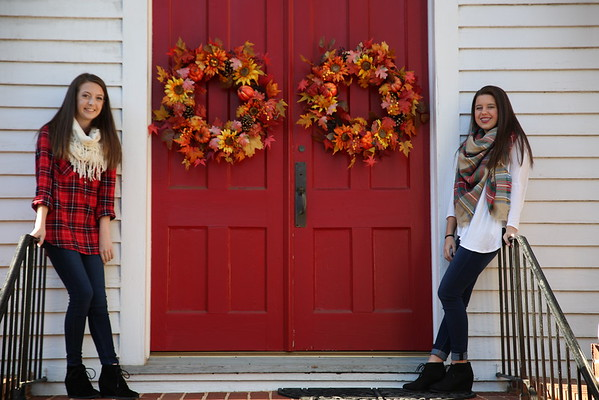 Madison and friend, Hope - Fall Photos