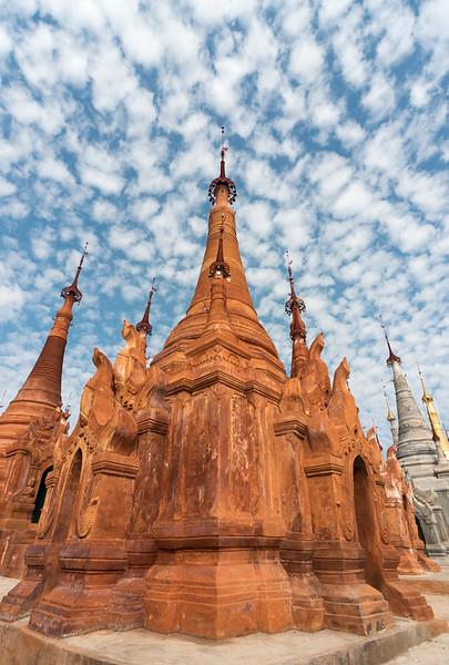 Stupa of Shwe Inn Thein Pagoda, Inthein (Indein), Inle Lake, Shan State, Burma (Myanmar)