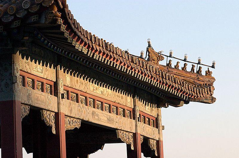 Pavillion roof details at Bei Hai Park.