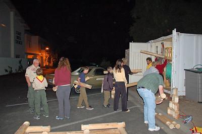 4/27/2009 - Troop Meeting : Build Lincon Log