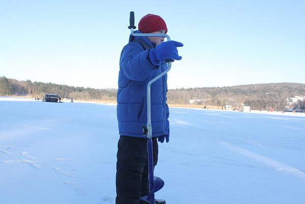 Ice Fishing Derby, Dewey Pond, Quechee