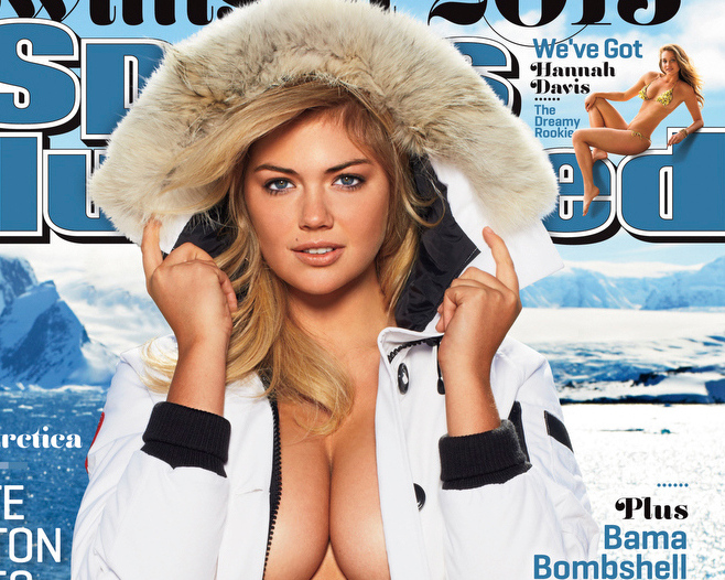 Description of . This image provided by Sports Illustrated shows the cover of the magazine's 2013 Swimsuit Edition featuring Kate Upton, which will launch across multiple platforms on Monday, Feb. 11, 2013. (AP Photo/Sports Illustrated, Derek Kettela)