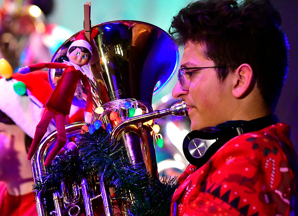 12/15/2017 Mike Orazzi | Staff Toby Simard during the 4th Annual Tuba Christmas at Trinity-On-Main in downtown New Britain Saturday.