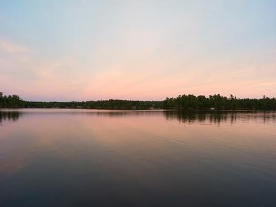 The SUN RISES at the LAKE