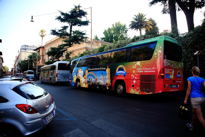 Boarding our crazy tour bus for a 14-hour tour to Pompeii and back.