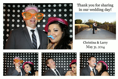 Christina & Larry's Wedding Photo Booth