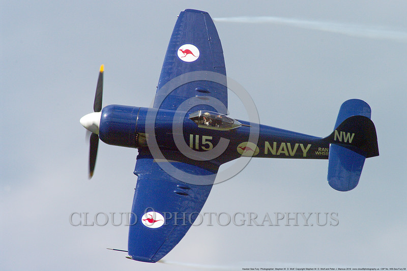 WB-Sea Fury 00058 A flying blue Hawker Sea Fury fighter Austrailian Navy warbird picture by Stephen W. D. Wolf.JPG