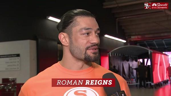 Roman Reigns - Screencaps 49ers Game / NBC Sports Interview