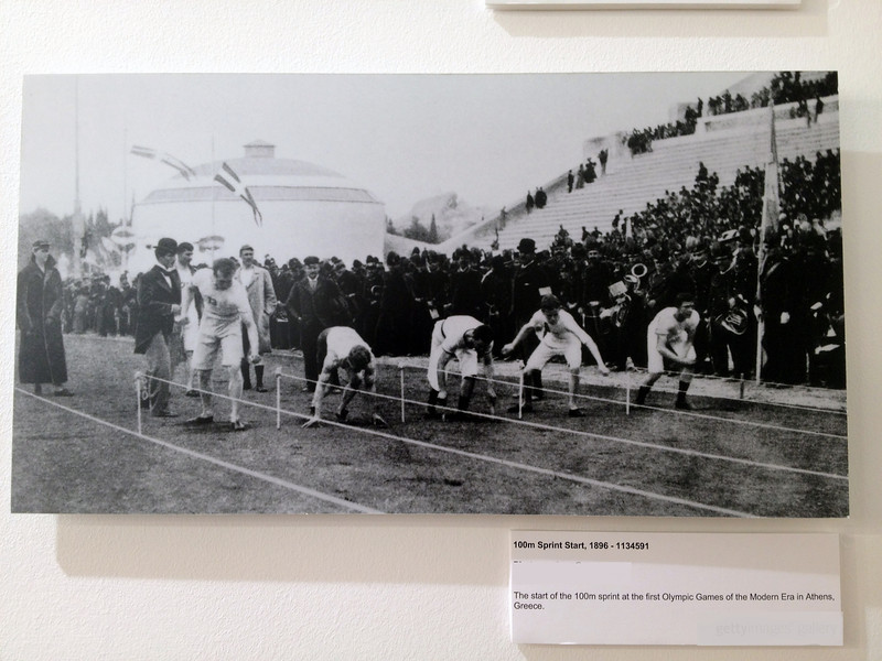 The first 100m finals of the modern era - Athens 1896
