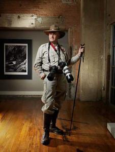 Roger Moore in his Studio 105 Dallas TX.  Photo credit:  Dan Sellers 2008