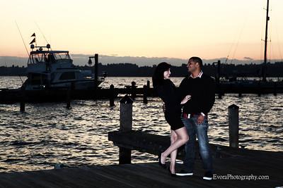 Boy friend & Girl friend at Kirkland Marina Park.