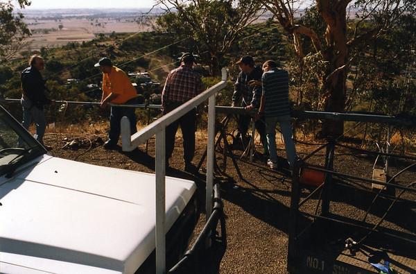 1989 Repairing Storm Damage to Transmitter