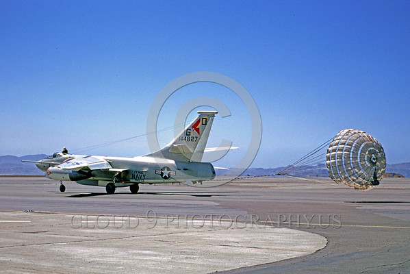 U.S. Navy Douglas A-3 Skywarrior Parachute Airplane Pictures