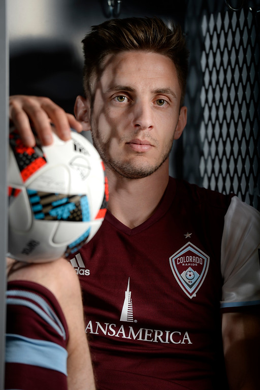 . COMMERCE CITY, CO - FEBRUARY 11: Kevin Doyle poses for a portrait during Colorado Rapids media day on Thursday, February 11, 2016. (Photo by AAron Ontiveroz/The Denver Post)