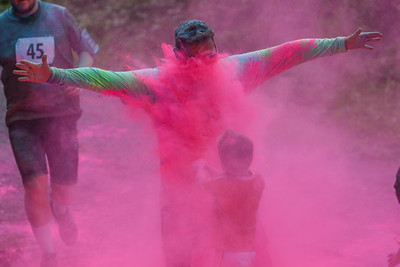 Colour Run Coed y Brenin 5kM Race - Finish Pictures