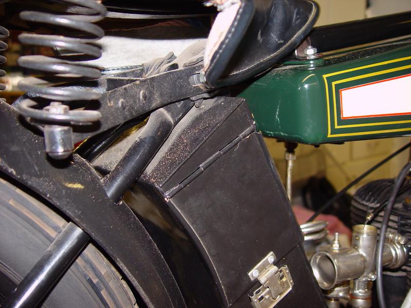 toolbox, seat area