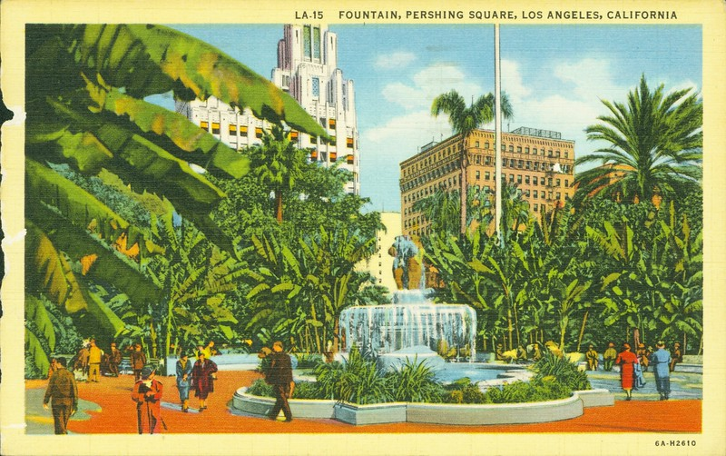 Fountain in Pershing Square