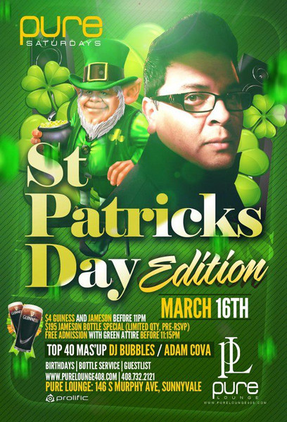 3/16 [ST. Patricks Day Edition@Pure Lounge]